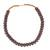 Recycled plastic beaded necklace, 'Peaceful Calm' - Eco Friendly Recycled Plastic Dark Brown Beaded Necklace (image 2a) thumbail