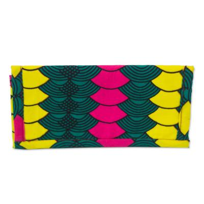 Colorful Printed Cotton Wallet from Ghana