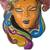 African wood mask, 'Ifama Color' - Colorful African Wood Mask Crafted in Ghana (image 2c) thumbail
