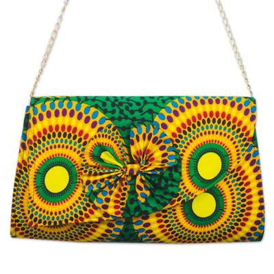 Colorful Printed Cotton Sling from Ghana