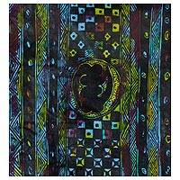 'Gye Nyame' - Signed Adinkra-Themed Abstract Painting from Ghana