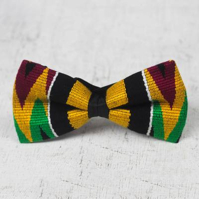 Cotton kente bow tie, Masculine Color