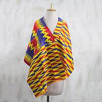 Cotton blend kente cloth shawl,