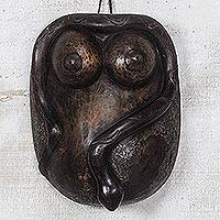 African wood mask, 'Baga Form' - African Wood Female Form Mask from Ghana