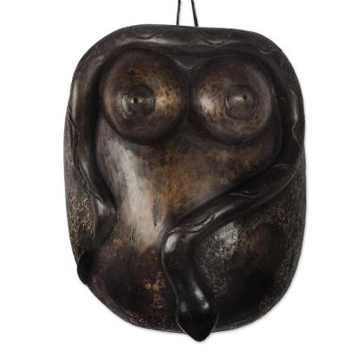 African Wood Female Form Mask from Ghana