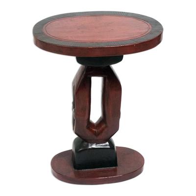 Handmade Cedar Wood Accent Table from Ghana