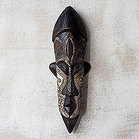 African wood mask, 'Have Patience'
