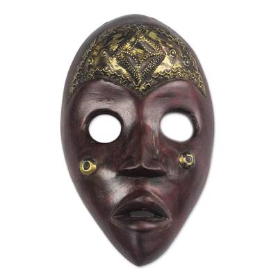 African Wood Dan Mask from Ghana