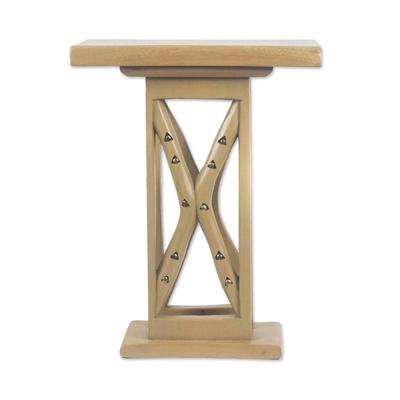 Cedar Wood Decorative Accent Table from Ghana