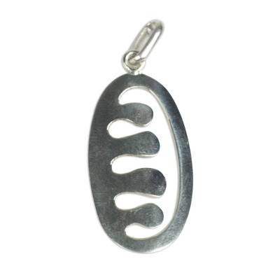 Sterling Silver Ese Ne Tekrema Pendant from Ghana