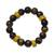 Tiger's eye and recycled glass beaded stretch bracelet, 'Care for the Earth' - Tiger's Eye and Recycled Glass Beaded Stretch Bracelet (image 2a) thumbail