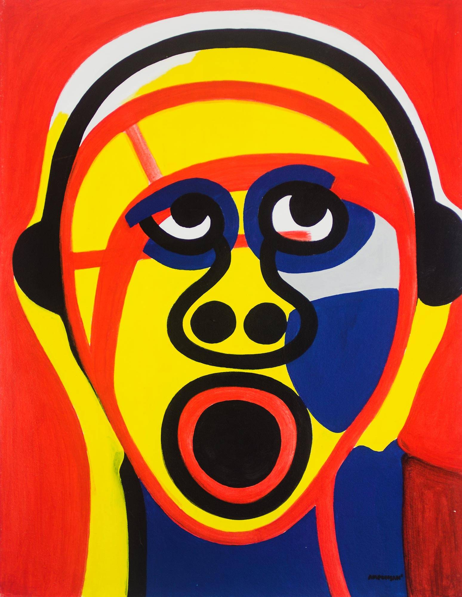 Modern Art Painting Face