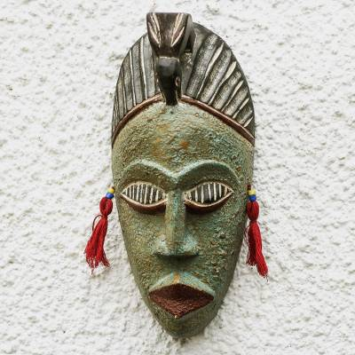 African wood mask, Green Hunter