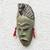 African wood mask, 'Green Hunter' - Unique African Wood Mask in Green from Ghana (image 2b) thumbail