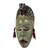 African wood mask, 'Green Hunter' - Unique African Wood Mask in Green from Ghana (image 2c) thumbail