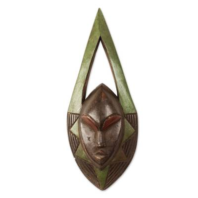 African Wood Mask with Openwork from Ghana