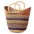 Raffia basket, 'Home Delight' - Patterned Handwoven Raffia Basket from Ghana (image 2c) thumbail