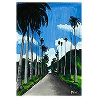 'The Aburi Botanical Garden' - Original Signed Aburi Botanical Garden Painting