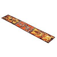 Batik cotton table runner, 'Delightful Gecko' - Batik Cotton Gecko Table Runner from Ghana