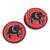 Hand painted cotton coasters, 'Red Elephant' (set of 6) - Elephant-Themed Cotton Coasters from Ghana (Set of 6) (image 2b) thumbail