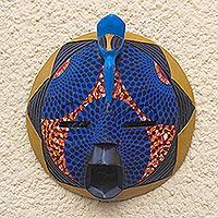 African wood mask, 'Traditional Print II'