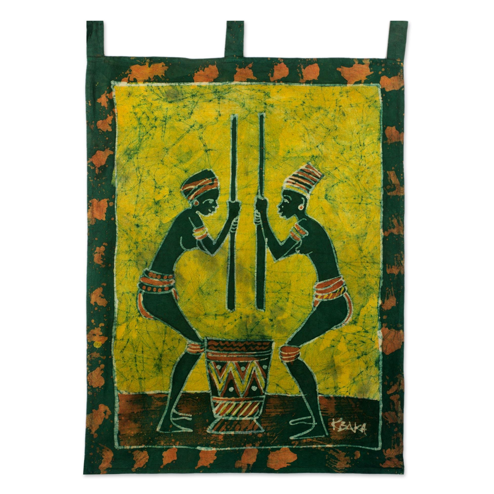 Unicef UK Market | Fair Trade Cotton Batik Wall Hanging - Abaa Ye Nii
