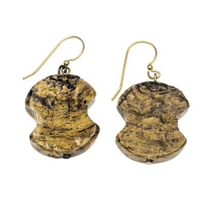 Soapstone dangle earrings,
