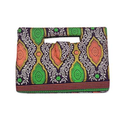 Colorful Cotton Handle Handbag Crafted in Ghana