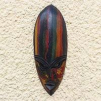African wood mask, 'Abena Colors'