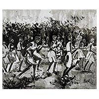 'Jubilation' - Signed Impressionist Inspirational Painting from Ghana