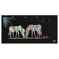 'Style' - Original African Zebra Painting in Acrylic on Canvas