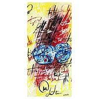 'Melody' - Signed Abstract Painting by a Ghanaian Artist