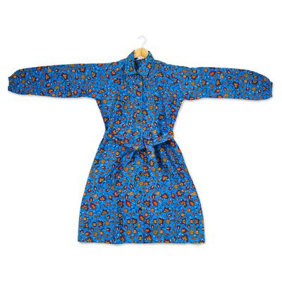 Cotton tunic-style dress