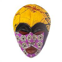 African wood mask, 'Colorful Tradition'