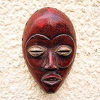 Wood mask, 'Crimson Dan'