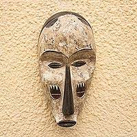 Wood mask, 'Fang Tradition' - Fang Style Hand Carved Wood Wall Mask from Ghana