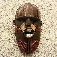 African wood mask, 'Luena'