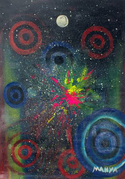 Abstract African Acrylic Painting