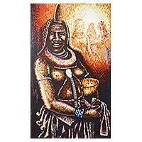 'Women Aglow' (2012) - Original Signed Portrait of a Himba Woman from Namibia