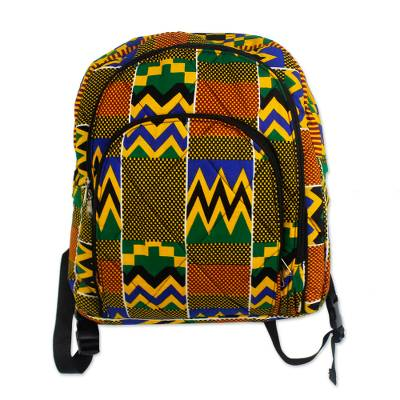 Bold Cotton Ashanti Backpack with Inner Pockets