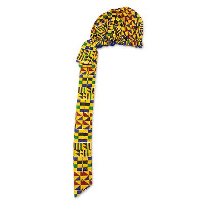 Hand Woven Cotton Kente Cloth Head Wrap from Africa