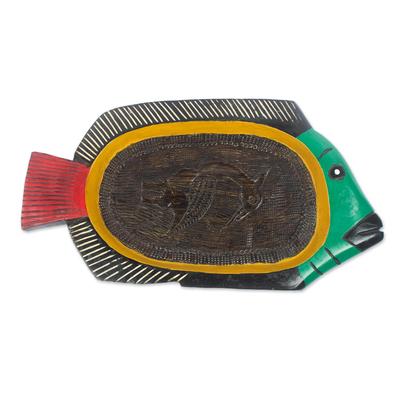 Decorative Sese Wood Fish Tray
