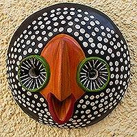 African wood mask, 'Nicholas' - Hand Carved African Wood Mask