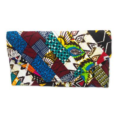 Hand Made Cotton Clutch Bag from West Africa