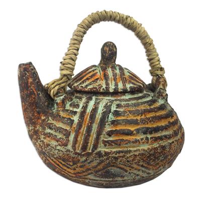 Decorative Elephant-Themed Ceramic Teapot
