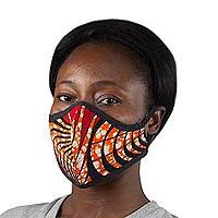 Cotton face mask, 'Live' - Reusable Cotton Face Mask