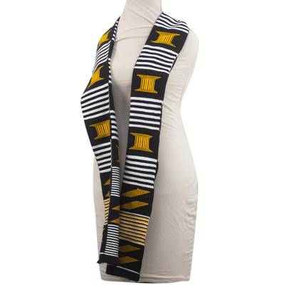 African Kente Cloth Cotton Fiazikpui Scarf (2 Strips)