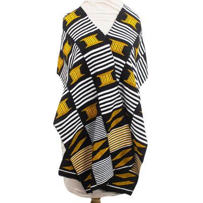 African Kente Cloth Cotton Fiazikpui Scarf (3 Strips)