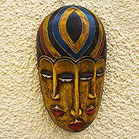 African wood mask, 'Boboto Faces'