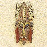 African wood mask, 'Woye Ma Me'